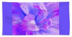 Purple Petals Abstract Beach Sheet by Gill Billington