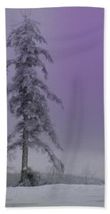 Purple Pine Beach Towel