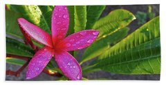 Purple Plumeria Beach Towel