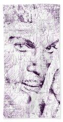 Purple Rain By Prince Beach Towel