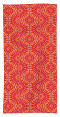 Beach Towel featuring the painting Purple Red Maze by Kym Nicolas