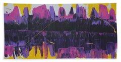 Purple Reflections Beach Sheet