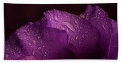 Purple Showy Prairie Gertain Beach Towel