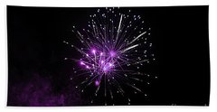 Beach Towel featuring the photograph Purple Sparkle In The Sky by Yumi Johnson