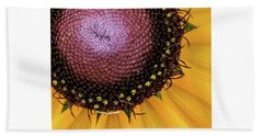 Beach Towel featuring the photograph Purple Spirals by David Coblitz