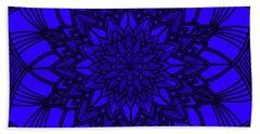 Beach Towel featuring the digital art Purple Spiritual by Lucia Sirna