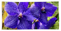 Purple Spotted Orchids Beach Sheet
