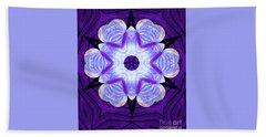 Purple Star Flower Meditation Beach Sheet