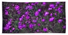 Purple Stars Beach Towel