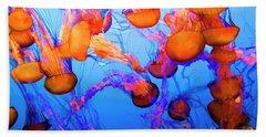 Purple Striped Jelly Fish I  Beach Sheet