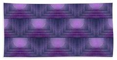 Purple Sun Deco Beach Towel