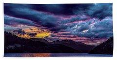Purple Sunset At Summit Cove Beach Towel