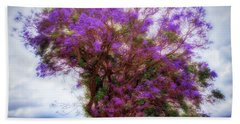 Purple Tree  ... Beach Sheet by Chuck Caramella