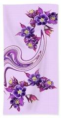 Purple Velvet Beach Towel