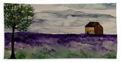 Purple Views Beach Towel