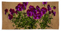 Purple Violets Beach Towel