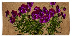 Purple Violets Beach Towel
