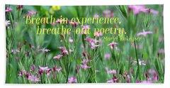 Purple Wildflower Of Poets Beach Towel