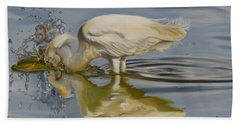 Beach Towel featuring the painting Pursuit by Phyllis Beiser