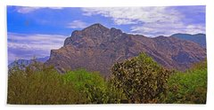 Beach Towel featuring the photograph Pusch Ridge Morning H10 by Mark Myhaver