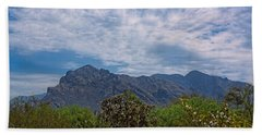 Beach Towel featuring the photograph Pusch Ridge Morning H26 by Mark Myhaver