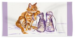 Puss 'n Boots Beach Towel by Debra Hall