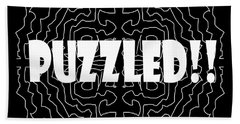 Puzzled Beach Towel