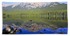 Pyramid Lake Reflection Beach Sheet by Teresa Zieba