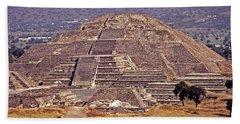 Pyramid Of The Sun - Teotihuacan Beach Towel