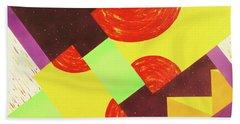 Pyramids And Pepperoni Beach Sheet by Thomas Blood