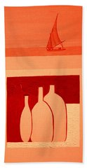 Pyramids On The Left Beach Towel by Bill OConnor
