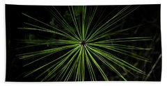Pyrotechnics Or Pine Needles Beach Towel