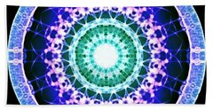 Beach Towel featuring the digital art Quadlife by Derek Gedney