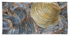 Quahog On Clams Beach Towel