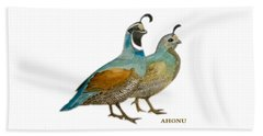 Quail Pair Beach Towel