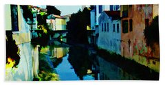 Beach Towel featuring the photograph Quaint On The Canal by Roberta Byram