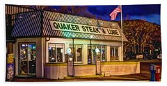 Quaker Steak And Lube Beach Sheet by Skip Tribby