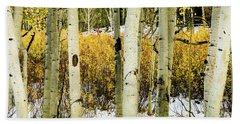Quakies And Willows In Autumn Beach Sheet