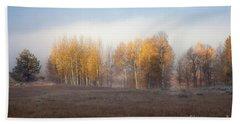 Quaking Aspen Trees At Dawn, Grand Teton National Park, Wyoming Beach Sheet