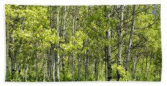 Beach Towel featuring the photograph Quaking Aspens 2 by Cynthia Powell