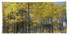 Beach Towel featuring the photograph Quaking Aspens by Cynthia Powell