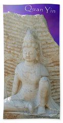 Quan Yin Royal Ease Pose Beach Sheet
