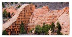 Quarry Closup At Red Rock Canyon Colorado Springs Beach Towel