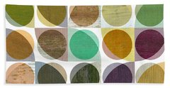 Quarter Circles Layer Project One Beach Towel by Michelle Calkins