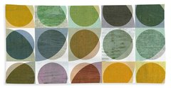 Quarter Circles Layer Project Two Beach Towel by Michelle Calkins