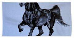 The Black Quarter Horse In Bic Pen Beach Sheet