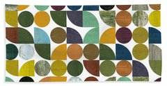 Beach Towel featuring the digital art Quarter Rounds And Rounds 100 by Michelle Calkins