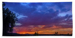 Quartz Canyon Sunset Beach Towel