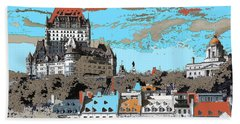 Quebec City Canada Poster Beach Towel