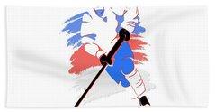 Quebec Nordiques Player Shirt Beach Towel